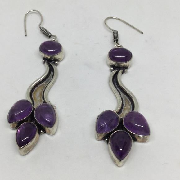 Handmade Jewelry - Amethyst Silver Earrings